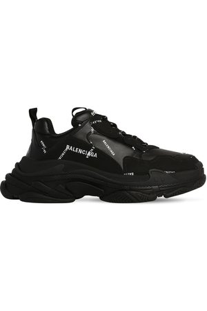 Balenciaga Men Sneakers - Triple S Faux Leather & Mesh Sneakers