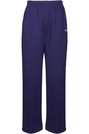 Balenciaga Men Sweatpants - Political Logo Cotton Jersey Sweatpants