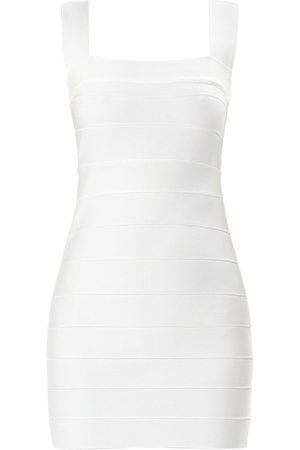 Hervé Léger Stretch Jersey Bandage Mini Dress
