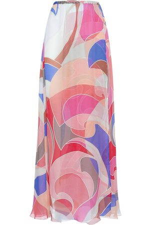 Emilio Pucci Printed Silk Chiffon Long Skirt