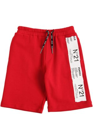 Nº21 Boys Shorts - Logo Print Cotton Sweat Shorts