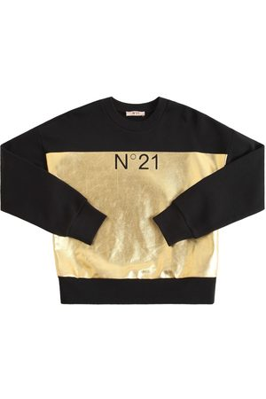 Nº21 Girls Sweatshirts - Color Block Cotton Sweatshirt
