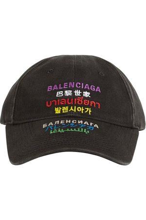 Balenciaga Multilanguages Cotton Cap