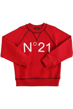 Nº21 Logo Print Cotton Sweatshirt