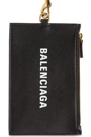 Balenciaga Logo Leather Cash & Passport Wallet