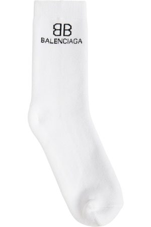 Balenciaga Logo Cotton Blend Socks