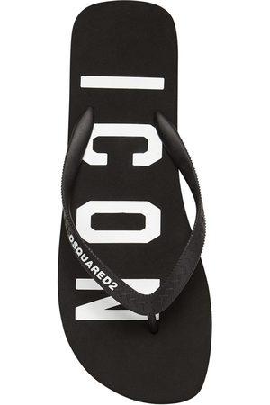 Dsquared2 Men Flip Flops - Icon Print Rubber Flip Flops