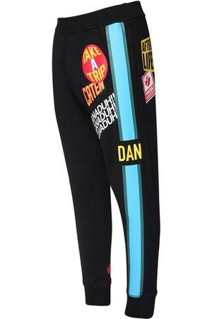 Dsquared2 Men Sweatpants - Printed Cotton Jersey Sweatpants