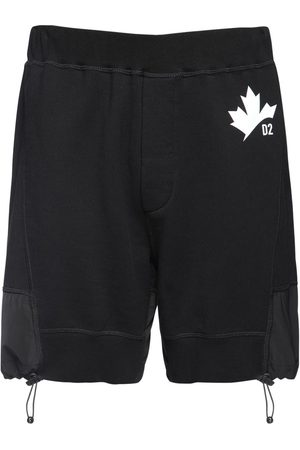 Dsquared2 Men Shorts - Maple Leaf Print Jersey Sweat Shorts