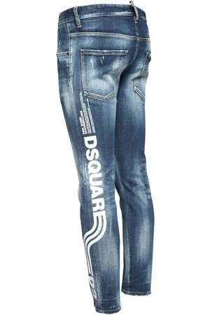 Dsquared2 Men Jeans - 16cm Logo Print Skater Denim Jeans