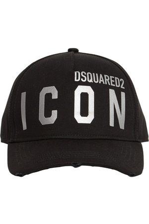 Dsquared2 Men Caps - Icon Reflective Cotton Gabardine Cap