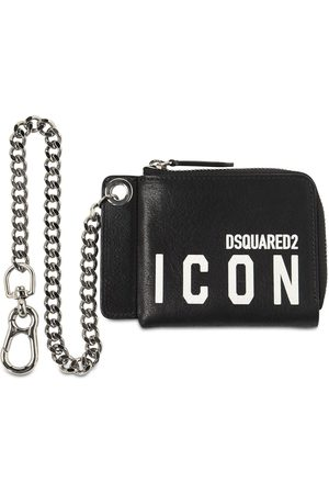 Dsquared2 Icon Print Leather Chain Wallet