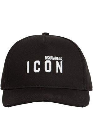 Dsquared2 Micro Icon Embro Cotton Gabardine Cap