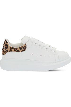 Alexander McQueen 45mm Leather & Leopard Print Sneakers