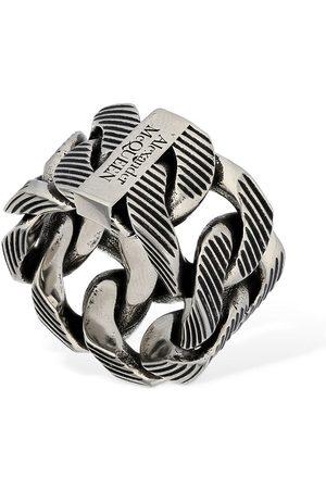 Alexander McQueen Textured Chain Ring