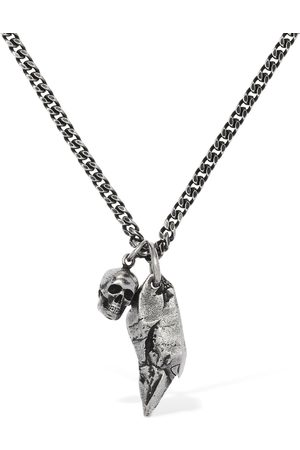 Alexander McQueen Double Chain Necklace W/ Charms
