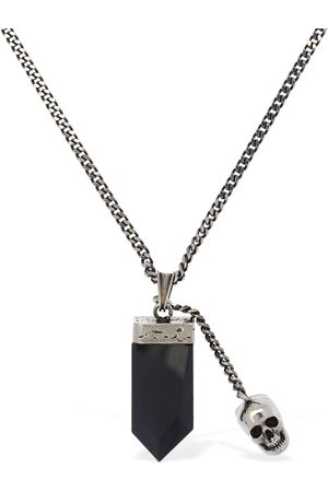 Alexander McQueen Evening Black Glass Long Necklace