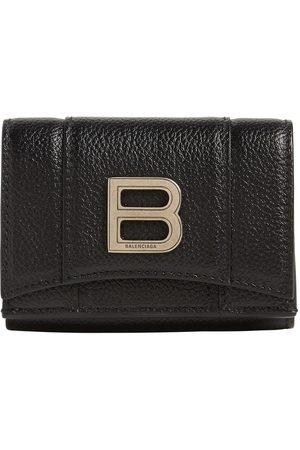 Balenciaga Hourglass Smooth Leather Mini Wallet