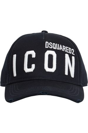 Dsquared2 Men Caps - Icon Embroidery Cotton Gabardine Cap