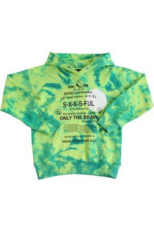 Diesel Tie & Dye Cotton Sweatshirt Hoodie