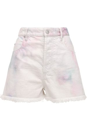 Isabel Marant Lesiabb Bleached Denim Shorts