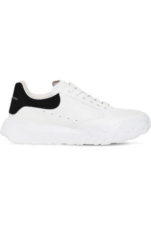 Alexander McQueen 40mm Oversized Court Leather Sneakers