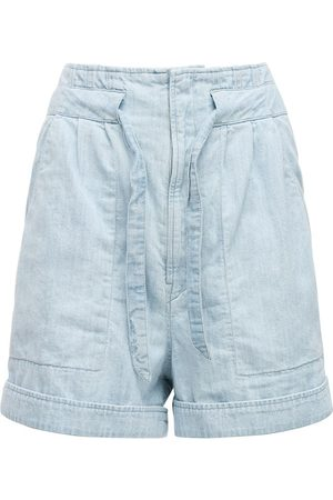 Isabel Marant Women Shorts - Marius Light Denim Shorts