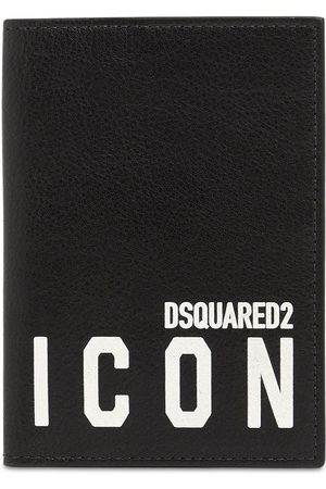 Dsquared2 Men Wallets - Icon Print Faux Leather Passport Holder