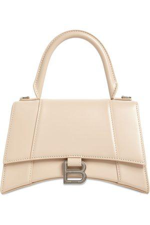 Balenciaga Sm Hourglass Smooth Leather Bag
