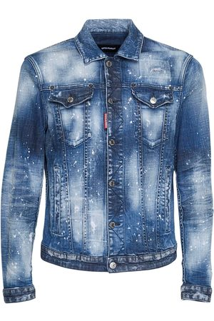 Dsquared2 Men Denim Jackets - Dan Jean Cotton Denim Jacket