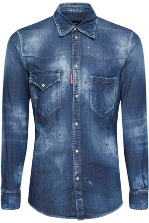 Dsquared2 Straight Western Stretch Denim Shirt