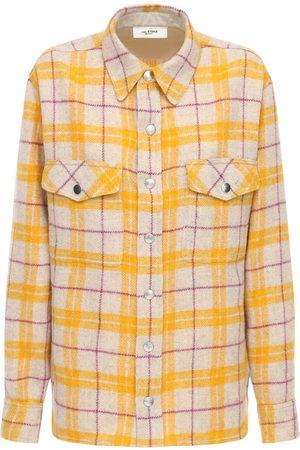 Isabel Marant Faxonli Check Wool Blend Jacket