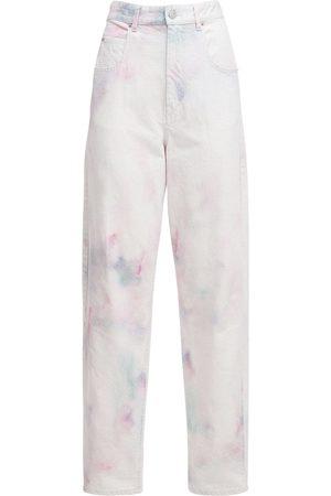 Isabel Marant Women Boyfriend Jeans - Corfy Bleached Denim Baggy Jeans