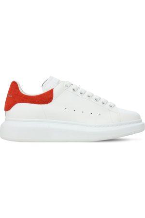 Alexander McQueen Women Sneakers - 45mm Leather & Croc Embossed Sneakers