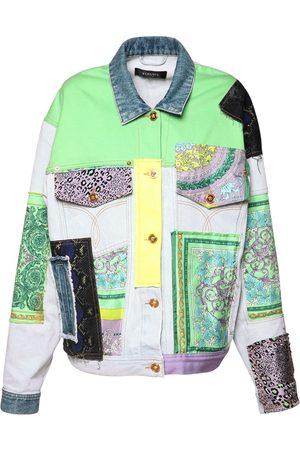 VERSACE Cotton Denim Jacket W/embroidery