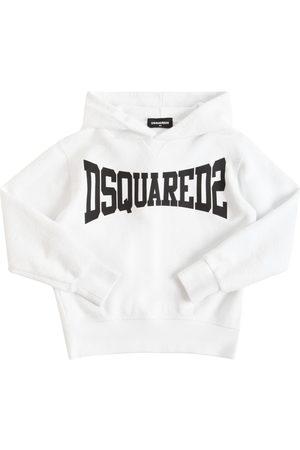 Dsquared2 Girls Hoodies - Logo Print Cotton Sweatshirt Hoodie