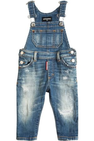 Dsquared2 Destroyed Stretch Cotton Overalls