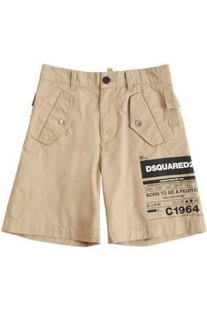 Dsquared2 Boys Shorts - Stretch Cotton Gabardine Shorts