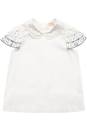 MONNALISA Ruffled Cotton T-shirt
