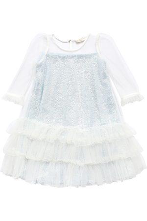 MONNALISA Girls Dresses - Tulle & Silk Party Dress