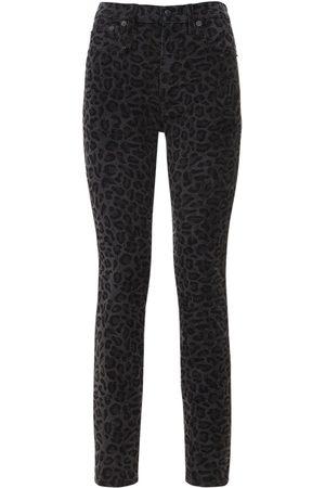 R13 High Waist Leopard Skinny Jeans