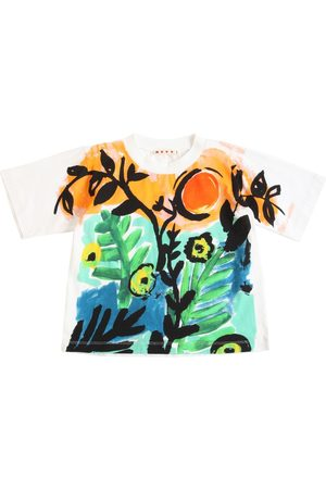Marni Printed Cotton Jersey T-shirt