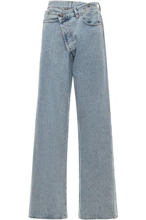 R13 Wide Leg Cross Over Denim Jeans