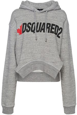 Dsquared2 D2 Asymmetrical Logo Cotton Hoodie