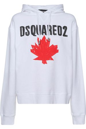 Dsquared2 D2 Maple Leaf Cotton Jersey Hoodie
