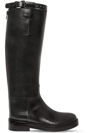 ANN DEMEULEMEESTER 40mm Dallas Leather Tall Boots