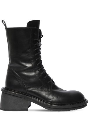 ANN DEMEULEMEESTER 60mm Santiago Leather Ankle Boots