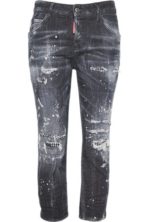 Dsquared2 Cool Girl Cropped Stretch Denim Jeans