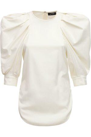 Isabel Marant Surya Top W/ Puff Sleeves