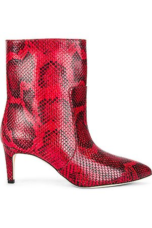 PARIS TEXAS Python Print Stiletto Ankle Boot in Animal Print